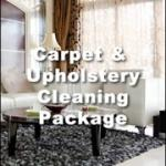 carpet and upholstery cleaning-package
