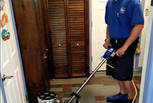 vinyl tile floor cleaning