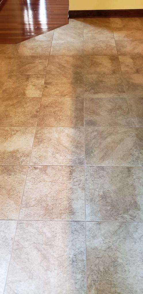 during cleaning tile grout