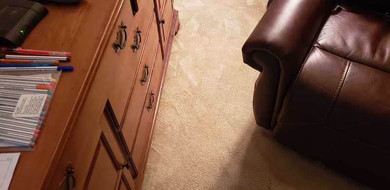 removing coffee stain in carpet