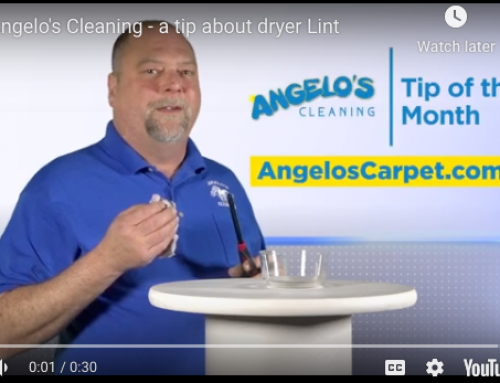 Angelo's Cleaning Shares a Tip About Dryer Lint